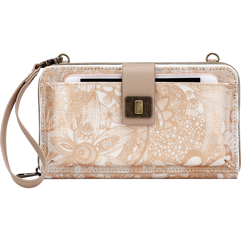 Sakroots Artist Circle Large Smartphone Crossbody- Seasonal Colors Rose Gold Spirit Desert - Sakroots Fabric Handbags - Handbags, Fabric Handbags