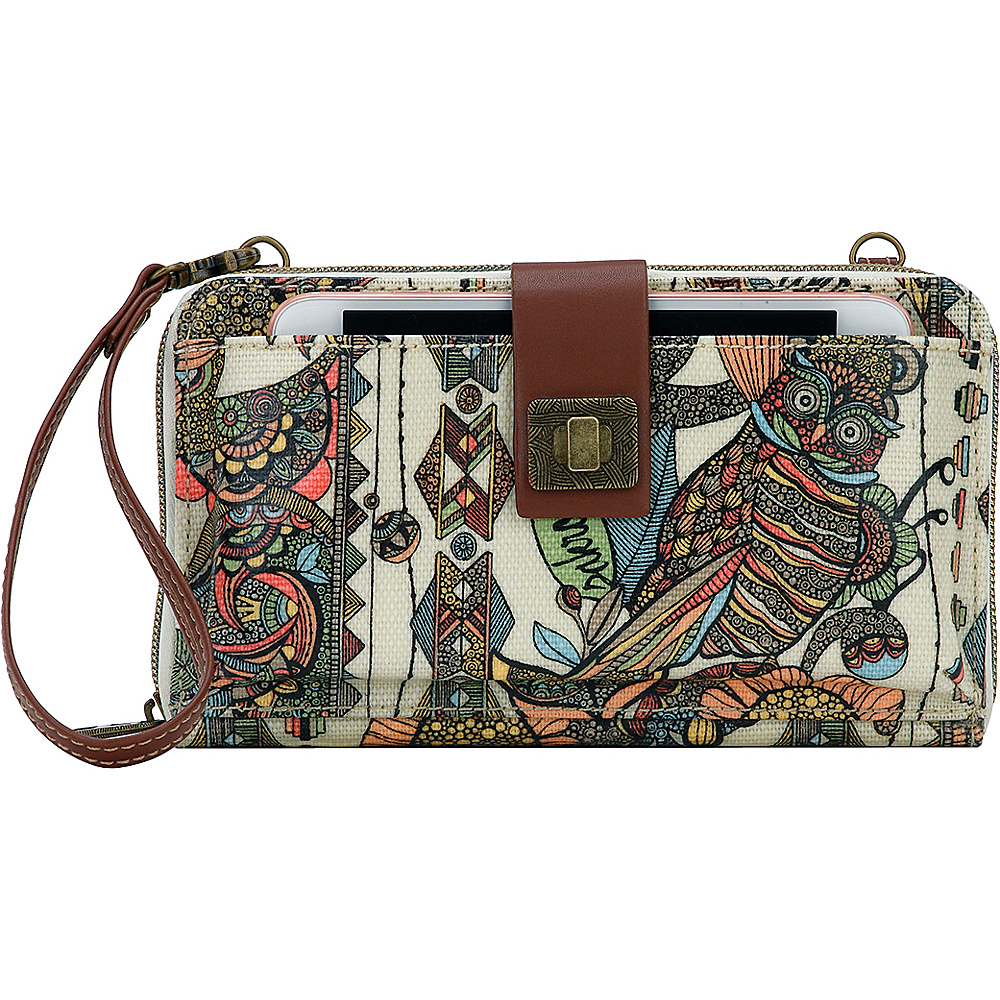 Sakroots Artist Circle Large Smartphone Crossbody- Seasonal Colors Cream Spirit Desert - Sakroots Fabric Handbags - Handbags, Fabric Handbags