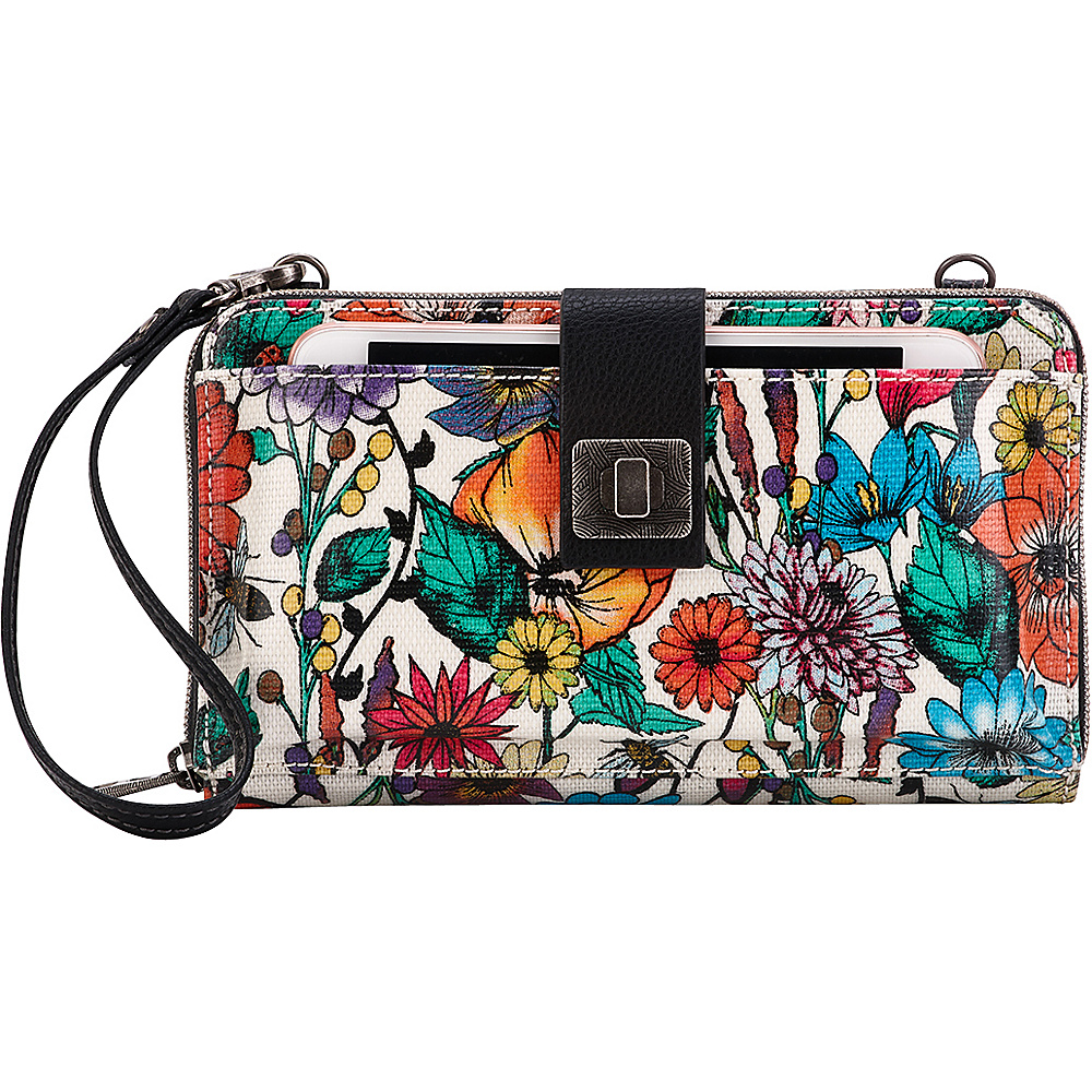 Sakroots Artist Circle Large Smartphone Crossbody- Seasonal Colors Optic In Bloom - Sakroots Fabric Handbags - Handbags, Fabric Handbags