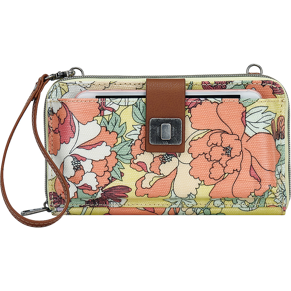 Sakroots Artist Circle Large Smartphone Crossbody- Seasonal Colors Sunlight Flower Power - Sakroots Fabric Handbags - Handbags, Fabric Handbags