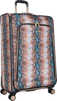 Aimee Kestenberg Bali 28 inch Spinner Blue Apricot Snake - Aimee Kestenberg Large Rolling Luggage