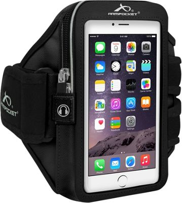 Armpocket MEGA i-40 Plus Adjustable Armband for Devices up to 7.0 inch - Medium Strap Length Black - Armpocket Electronic Cases
