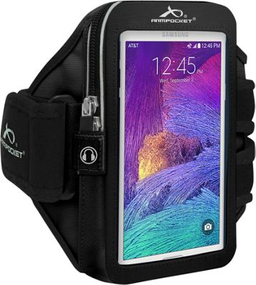 Armpocket ULTRA i-35 Adjustable Armband for Devices up to 6 inch - Small Strap Length Black - Armpocket Electronic Cases