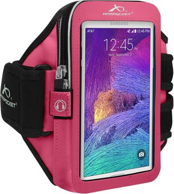 Armpocket ULTRA i-35 Adjustable Armband for Devices up to 6 inch - Small Strap Length Pink - Armpocket Electronic Cases