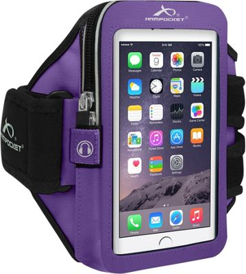 Armpocket ULTRA i-35 Adjustable Armband for Devices up to 6 inch - Small Strap Length Purple - Armpocket Electronic Cases
