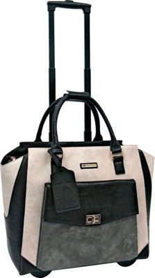 Cabrelli Tammy Rolling Briefcase Beige/Grey/Black - Cabrelli Wheeled Business Cases