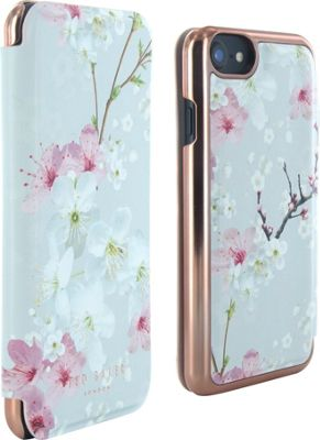 Ted Baker iPhone 6 & 7 Mirror Folio Case Brook Oriental Blossum - Ted Baker Electronic Cases