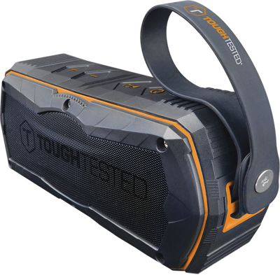 ToughTested Rugged Sport Bluetooth Speaker with 4000mAh Power Bank Black/Orange - ToughTested Portable Batteries & Chargers