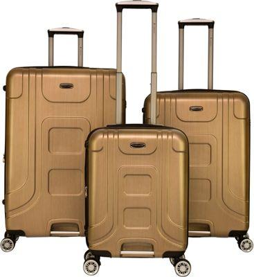 Gabbiano Provence 3 Piece Expandable Hardside Spinner Luggage Set Golden - Gabbiano Luggage Sets