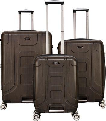 Gabbiano Provence 3 Piece Expandable Hardside Spinner Luggage Set Bronze - Gabbiano Luggage Sets