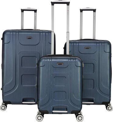 Gabbiano Provence 3 Piece Expandable Hardside Spinner Luggage Set Blue - Gabbiano Luggage Sets