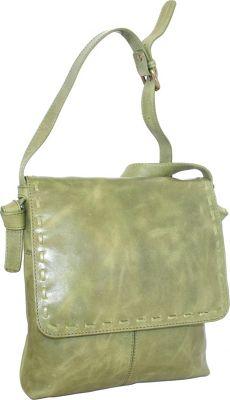 Nino Bossi Christie Crossbody Bag Avocado - Nino Bossi Leather Handbags