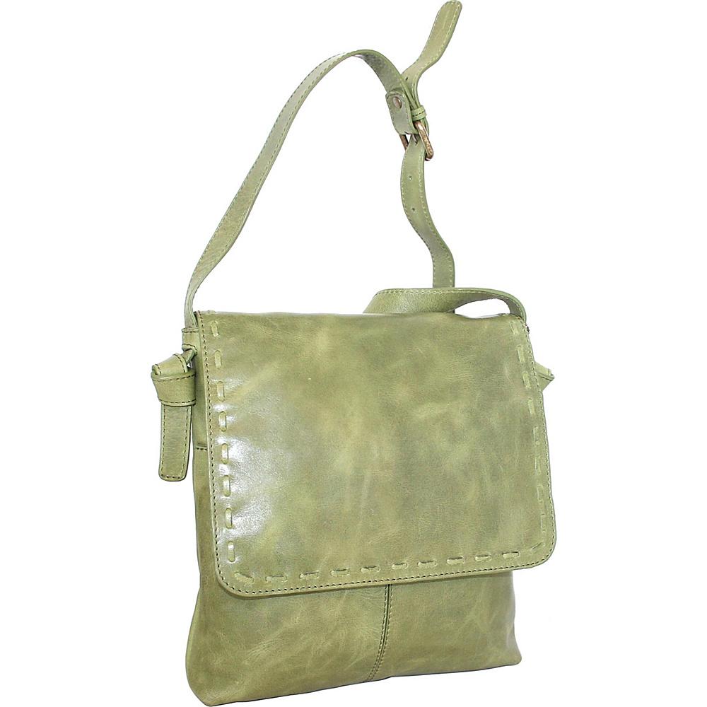 Nino Bossi Christie Crossbody Bag Avocado - Nino Bossi Leather Handbags - Handbags, Leather Handbags