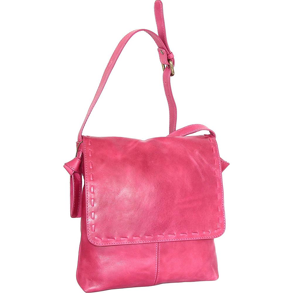 Nino Bossi Christie Crossbody Bag Fuchsia - Nino Bossi Leather Handbags - Handbags, Leather Handbags