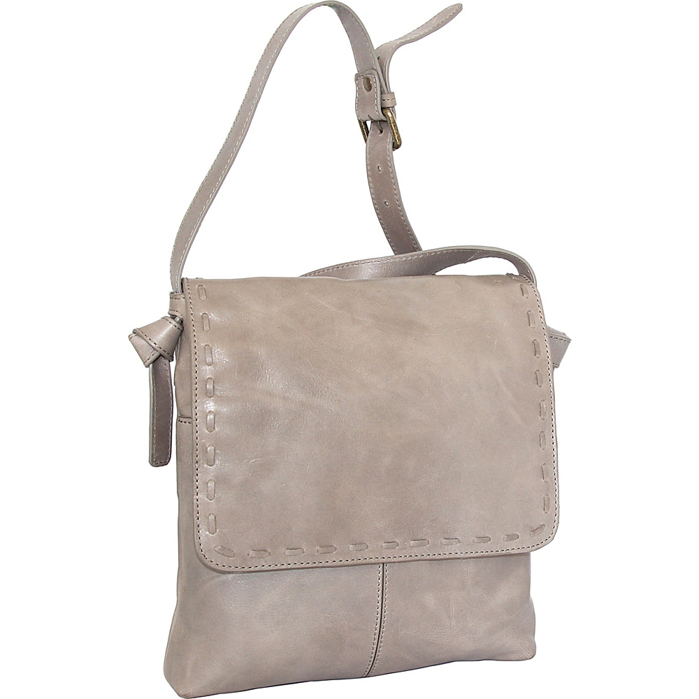 Nino Bossi Christie Crossbody Bag Stone - Nino Bossi Leather Handbags - Handbags, Leather Handbags