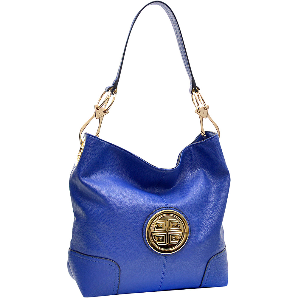 Dasein Soft Emblem Tote with Removable Strap Blue - Dasein Manmade Handbags - Handbags, Manmade Handbags