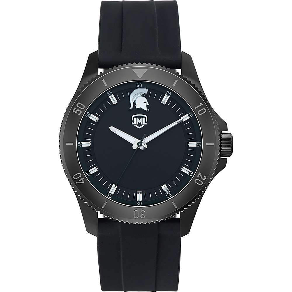 Jack Mason League Mens NCAA Blackout Silicone Watch Michigan State - Jack Mason League Watches - Fashion Accessories, Watches