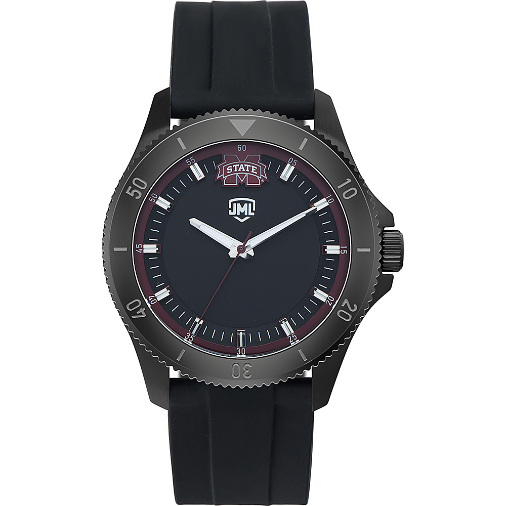 Jack Mason League Mens NCAA Blackout Silicone Watch Mississippi State - Jack Mason League Watches - Fashion Accessories, Watches