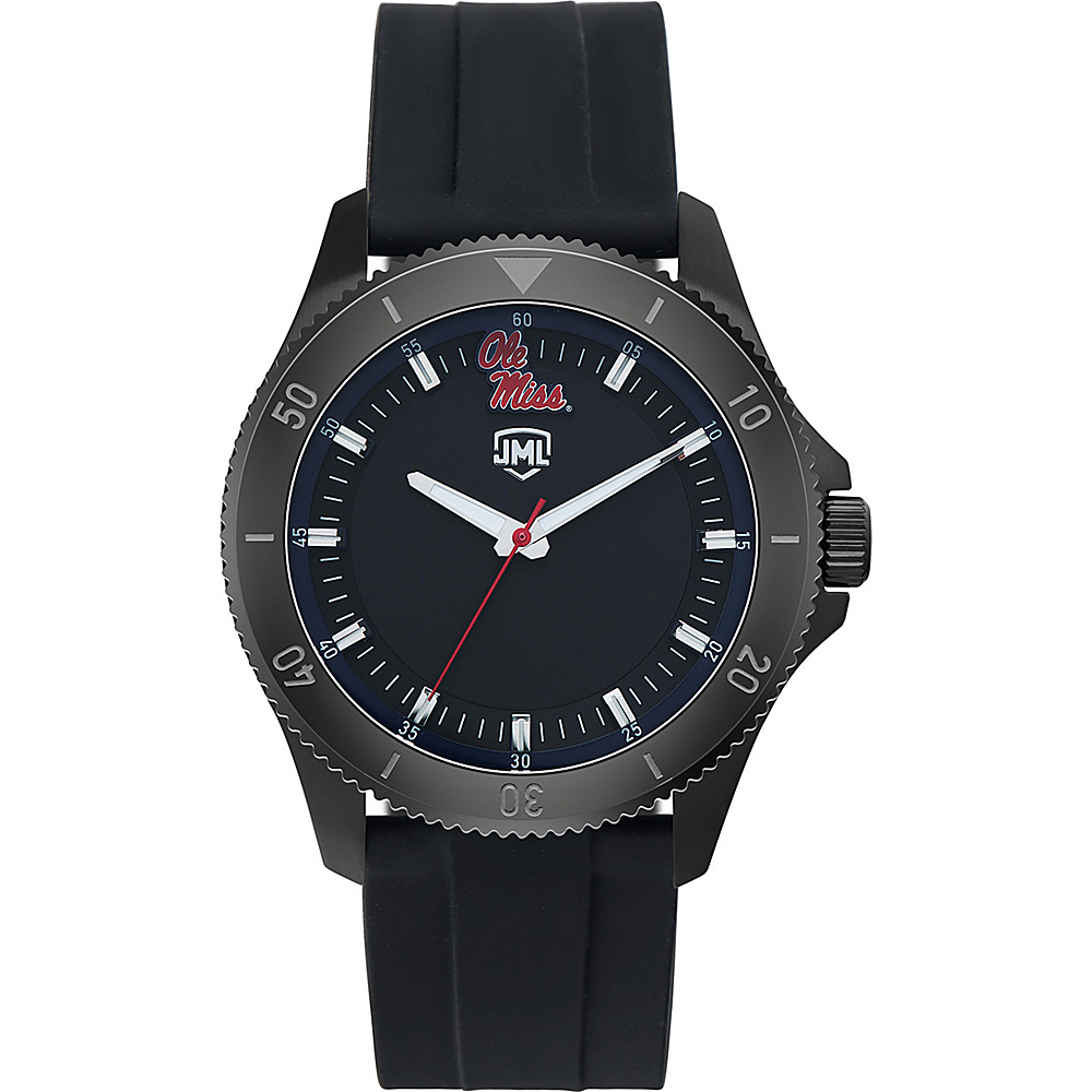 Jack Mason League Mens NCAA Blackout Silicone Watch Ole Miss - Jack Mason League Watches - Fashion Accessories, Watches