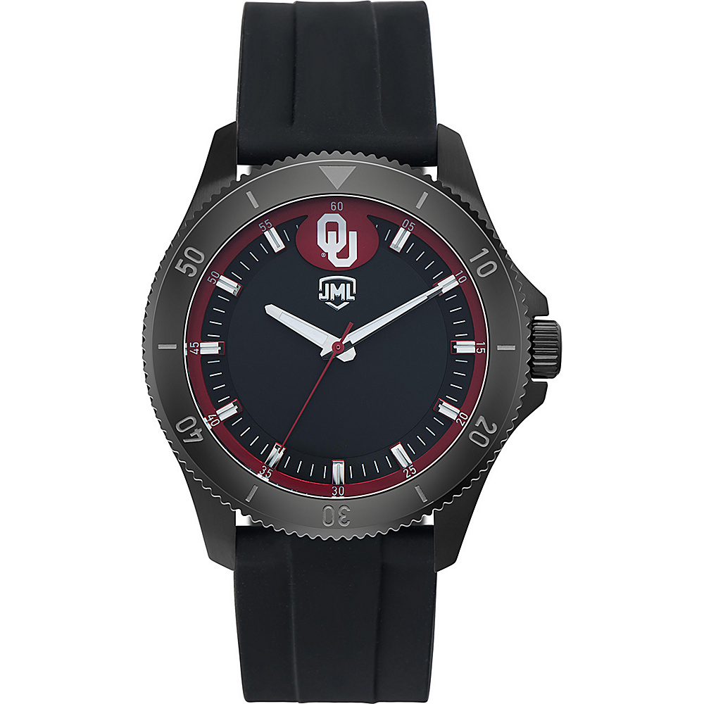 Jack Mason League Mens NCAA Blackout Silicone Watch Oklahoma - Jack Mason League Watches - Fashion Accessories, Watches