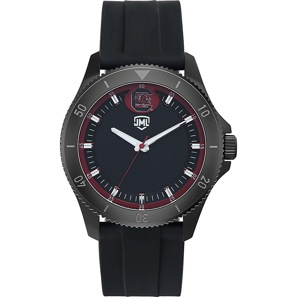 Jack Mason League Mens NCAA Blackout Silicone Watch South Carolina - Jack Mason League Watches - Fashion Accessories, Watches