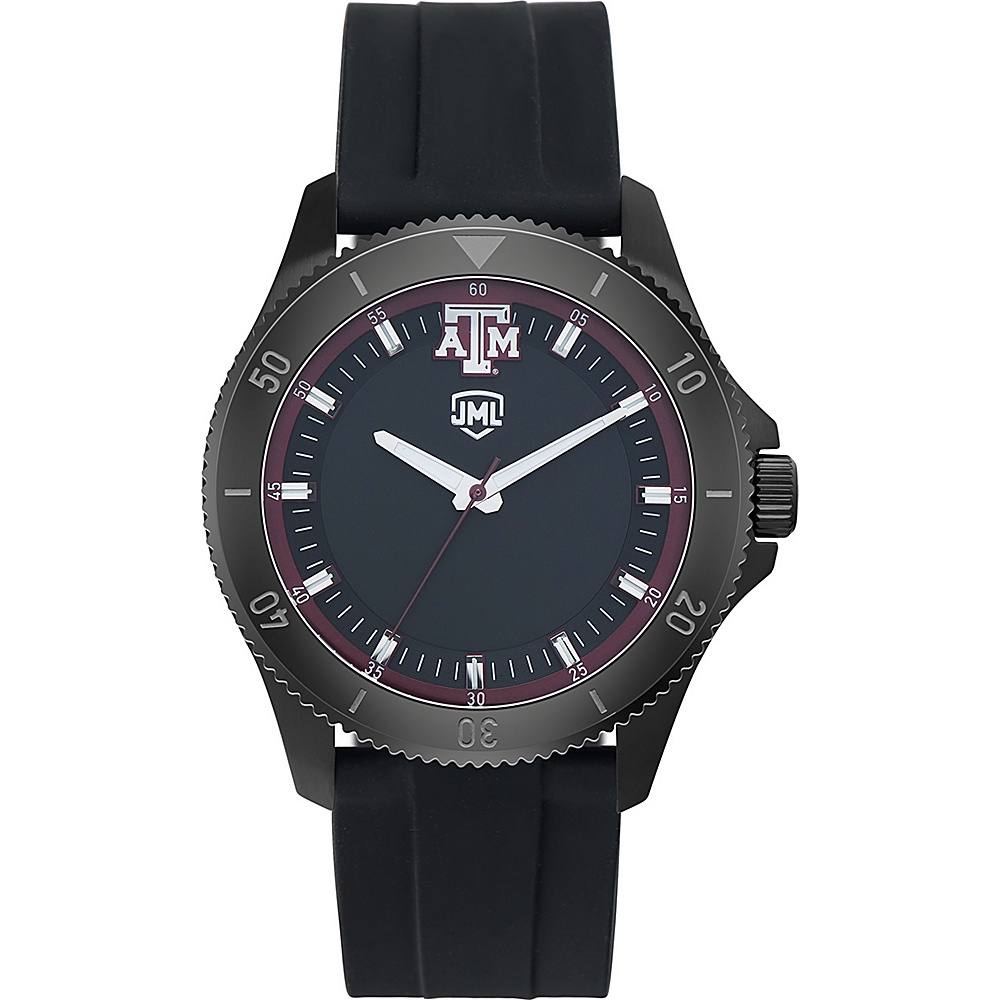 Jack Mason League Mens NCAA Blackout Silicone Watch Texas A&M - Jack Mason League Watches - Fashion Accessories, Watches