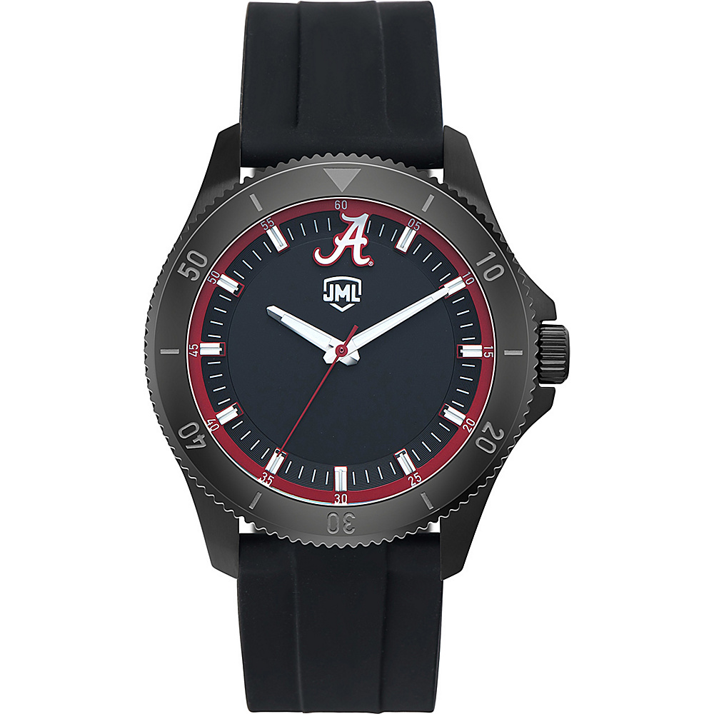 Jack Mason League Mens NCAA Blackout Silicone Watch Alabama - Jack Mason League Watches - Fashion Accessories, Watches