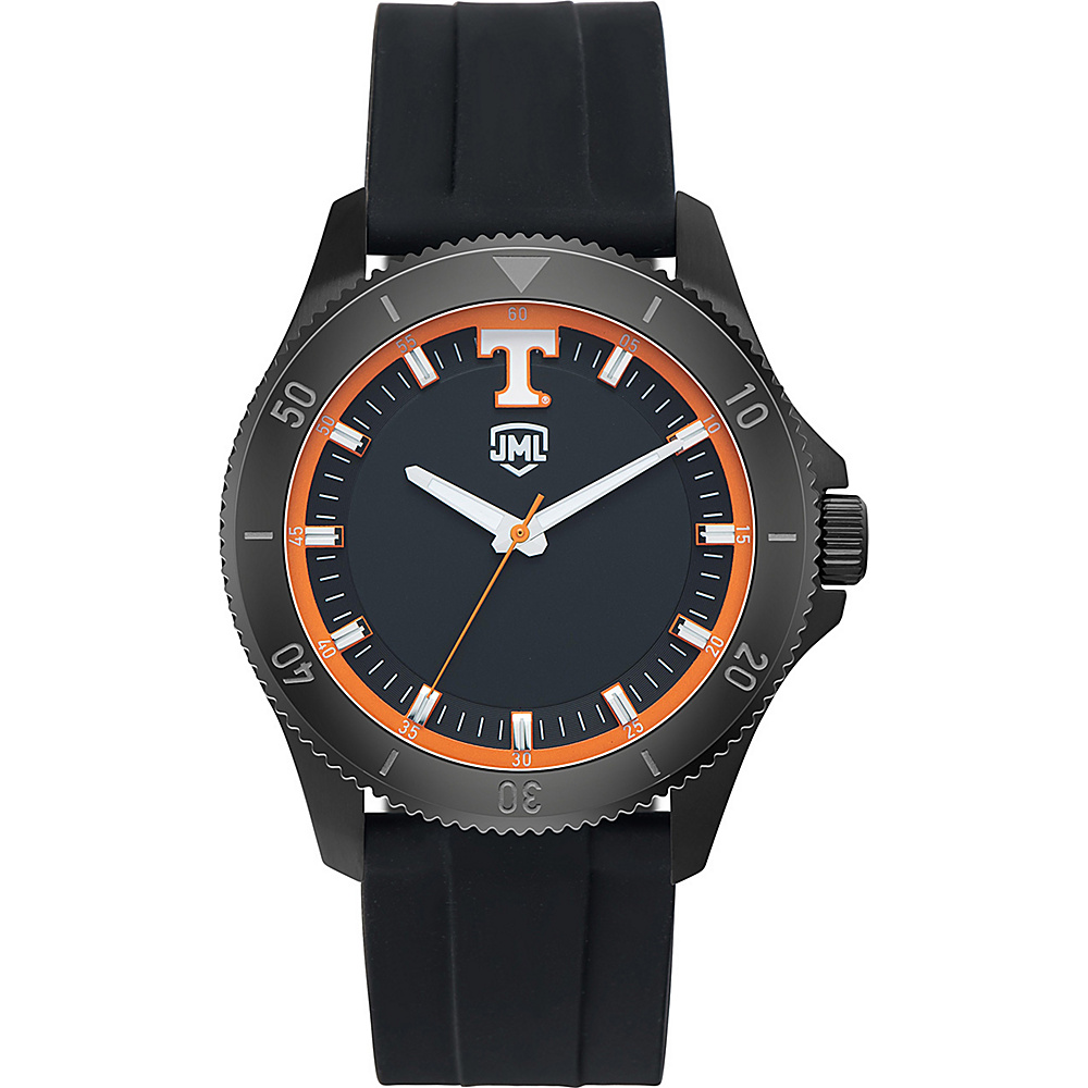 Jack Mason League Mens NCAA Blackout Silicone Watch Tennessee - Jack Mason League Watches - Fashion Accessories, Watches