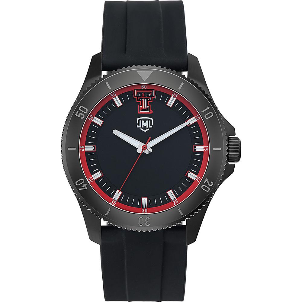 Jack Mason League Mens NCAA Blackout Silicone Watch Texas Tech - Jack Mason League Watches - Fashion Accessories, Watches