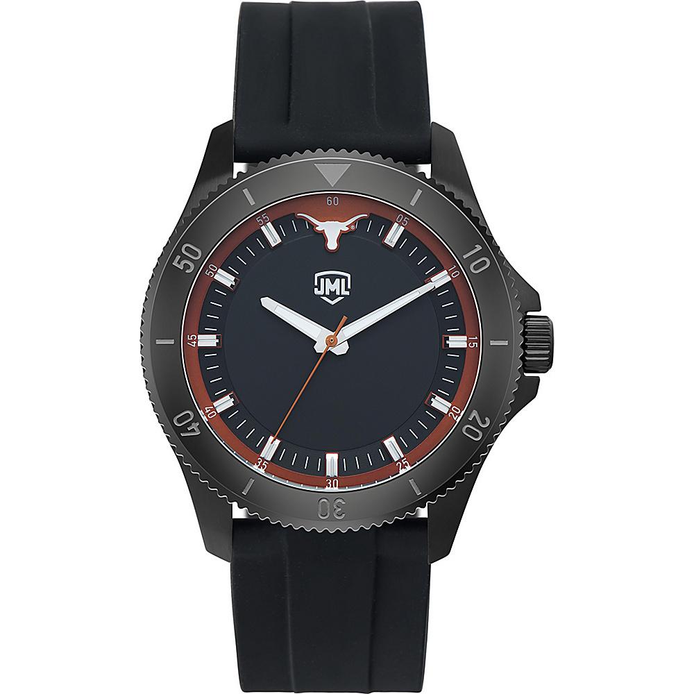 Jack Mason League Mens NCAA Blackout Silicone Watch Texas - Jack Mason League Watches - Fashion Accessories, Watches