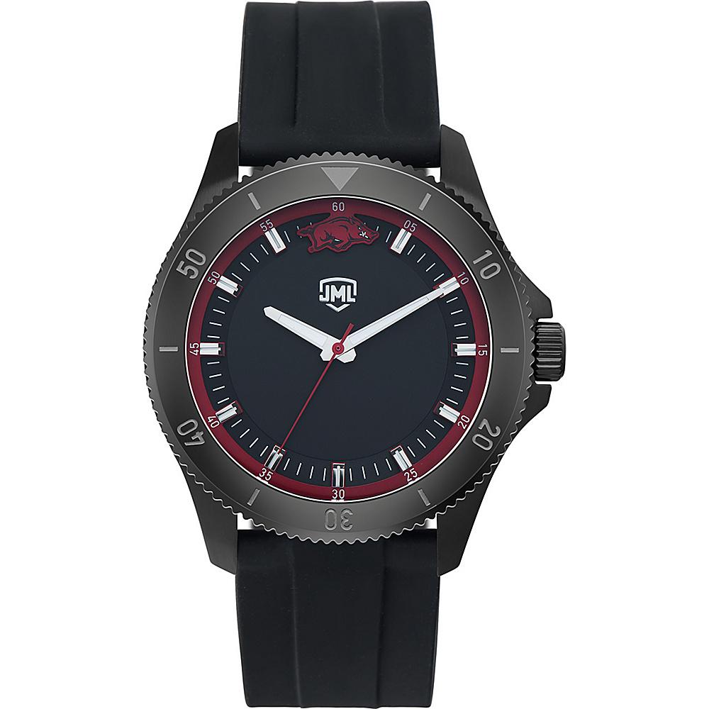 Jack Mason League Mens NCAA Blackout Silicone Watch Arkansas - Jack Mason League Watches - Fashion Accessories, Watches