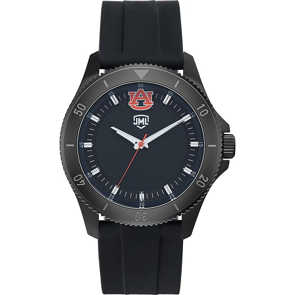 Jack Mason League Mens NCAA Blackout Silicone Watch Auburn - Jack Mason League Watches - Fashion Accessories, Watches