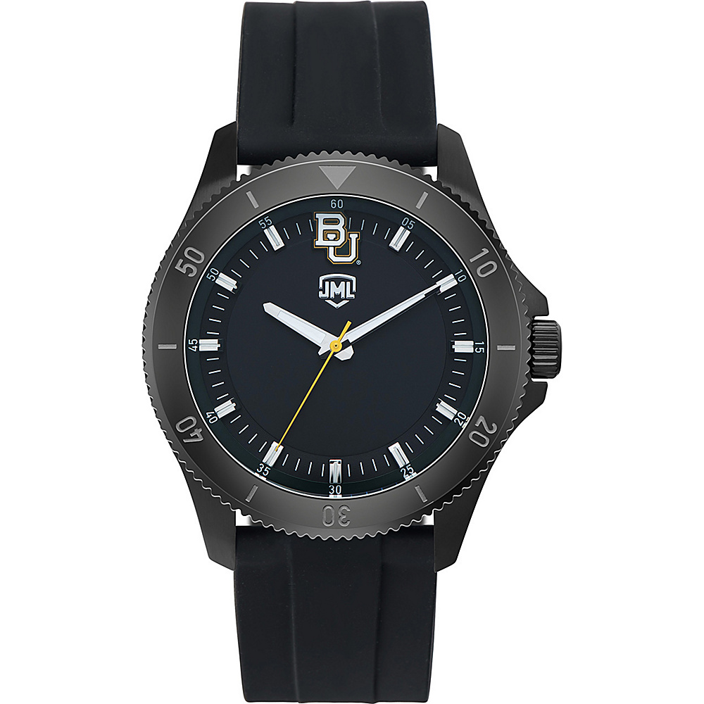 Jack Mason League Mens NCAA Blackout Silicone Watch Baylor - Jack Mason League Watches - Fashion Accessories, Watches
