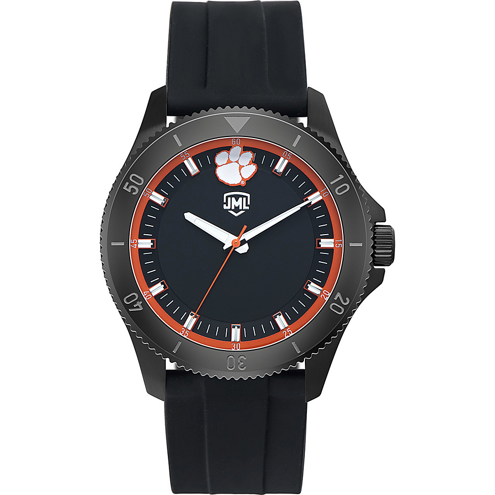 Jack Mason League Mens NCAA Blackout Silicone Watch Clemson - Jack Mason League Watches - Fashion Accessories, Watches