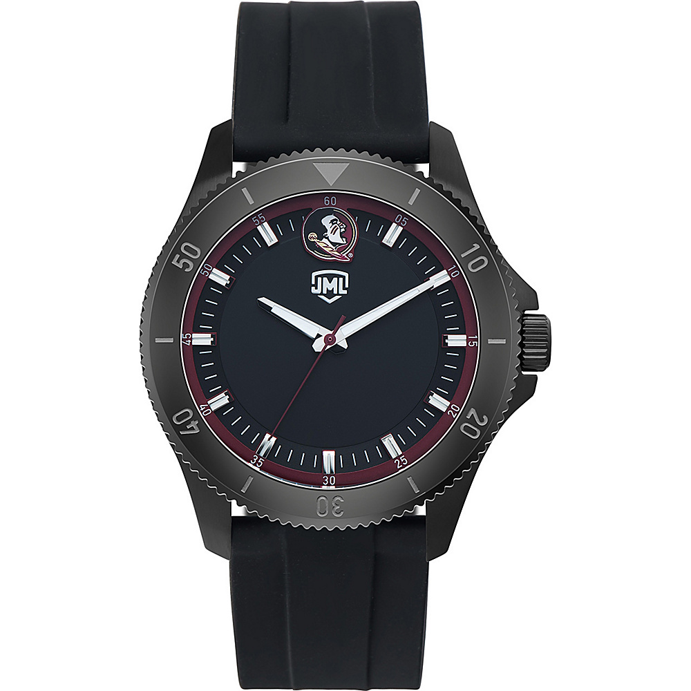 Jack Mason League Mens NCAA Blackout Silicone Watch Florida State - Jack Mason League Watches - Fashion Accessories, Watches