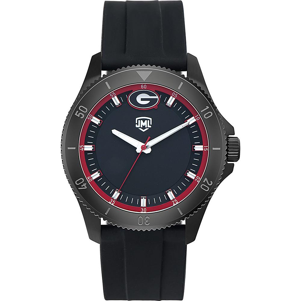 Jack Mason League Mens NCAA Blackout Silicone Watch Georgia - Jack Mason League Watches - Fashion Accessories, Watches