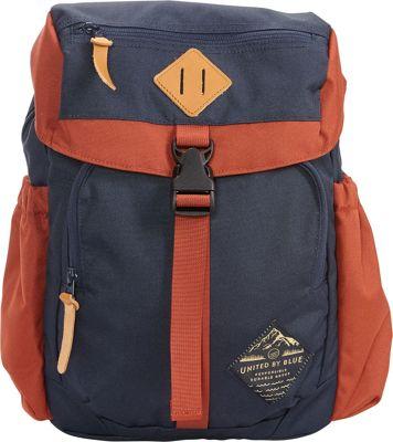 United by Blue Bluff Utility Hiking Backpack Navy/Rust - United by Blue Day Hiking Backpacks