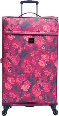 Isaac Mizrahi Irwin 2 26 inch Checked Spinner Luggage Berry - Isaac Mizrahi Softside Checked