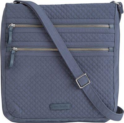 Vera Bradley Iconic Triple Zip Hipster - Solids Charcoal - Vera Bradley Fabric Handbags 10582352