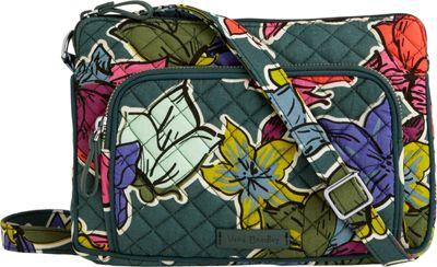 Vera Bradley Iconic RFID Little Hipster Falling Flowers - Vera Bradley Fabric Handbags