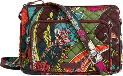 Vera Bradley Iconic RFID Little Hipster Autumn Leaves - Vera Bradley Fabric Handbags