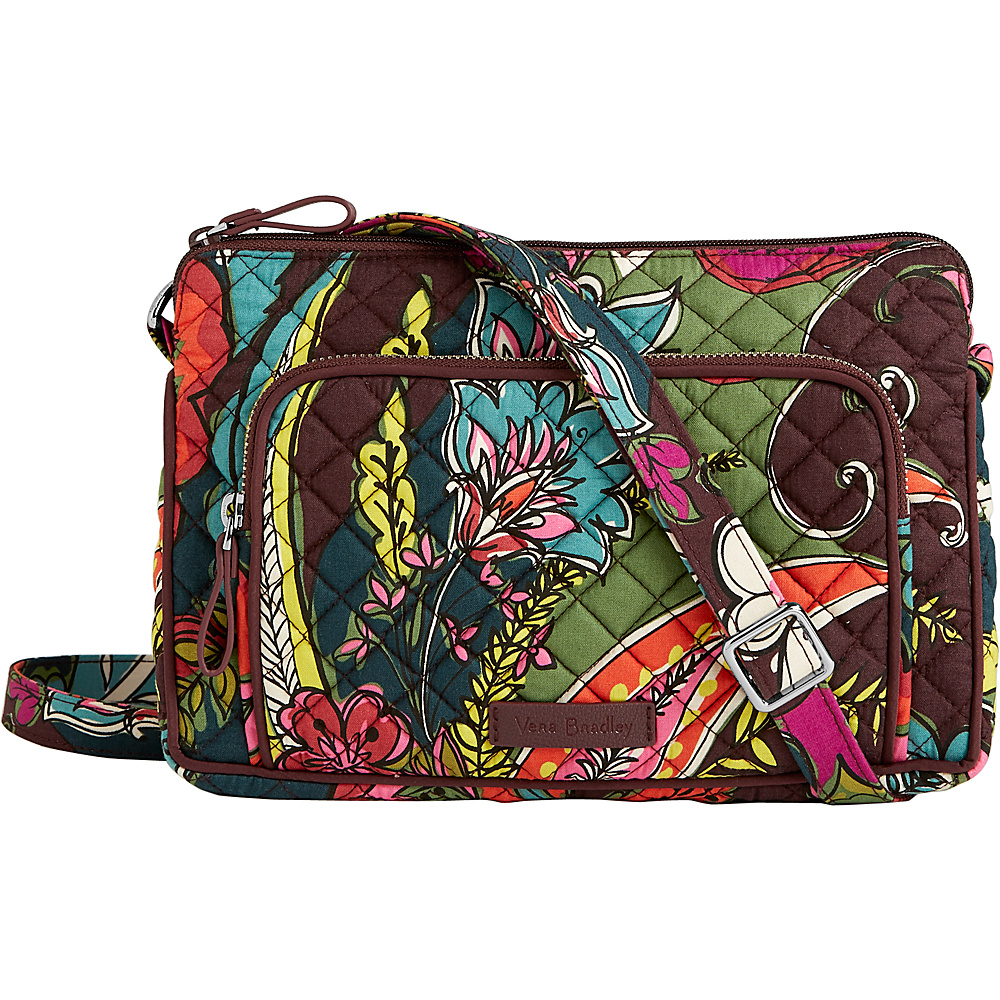 Vera Bradley Iconic RFID Little Hipster Autumn Leaves - Vera Bradley Fabric Handbags - Handbags, Fabric Handbags