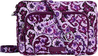 Vera Bradley Iconic RFID Little Hipster Lilac Paisley - Vera Bradley Fabric Handbags