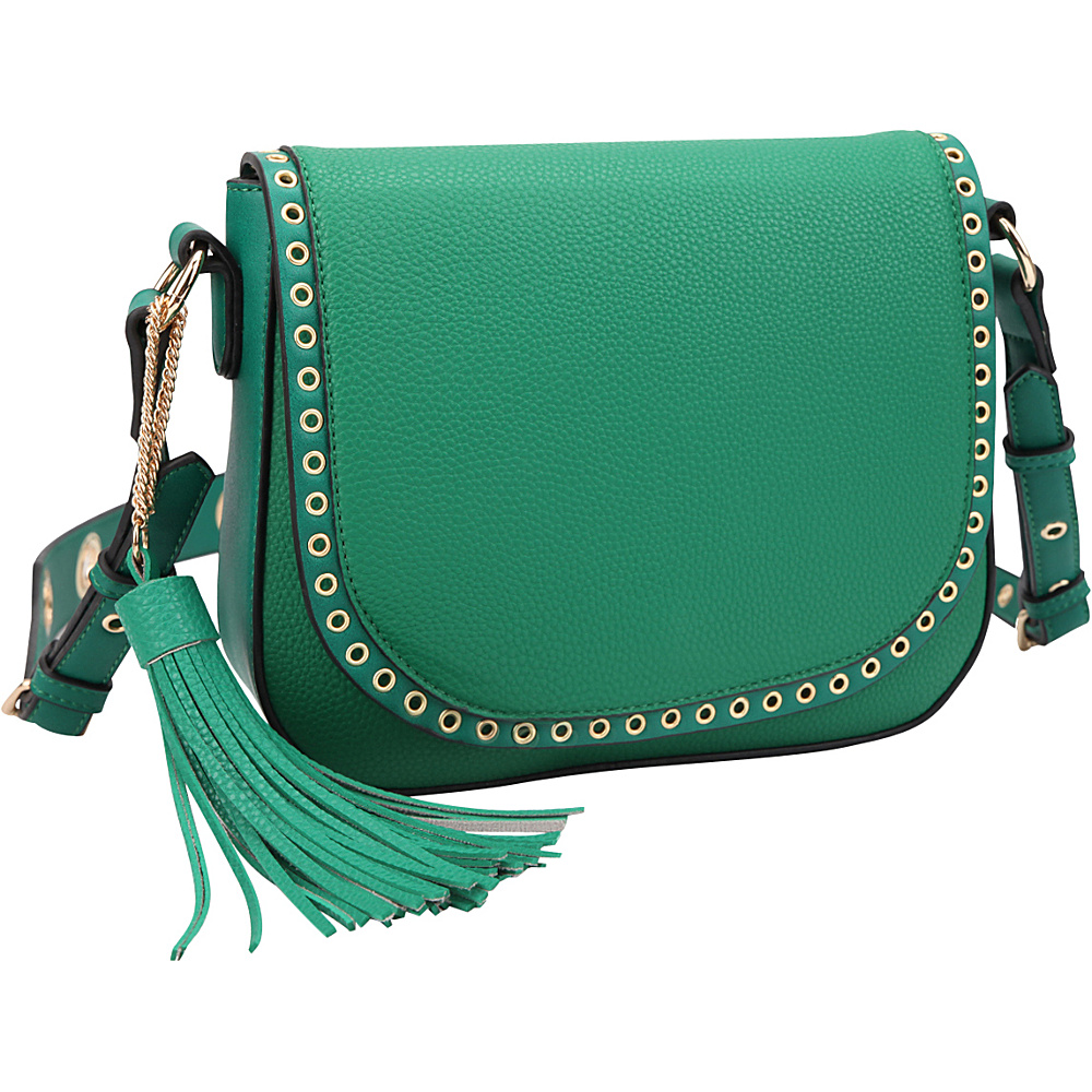 Dasein Front Flap Messenger Crossbody Green - Dasein Leather Handbags - Handbags, Leather Handbags