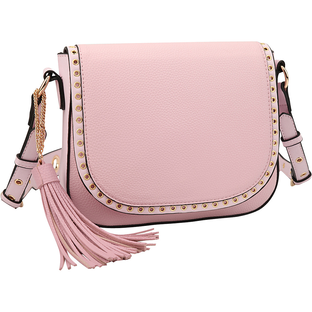 Dasein Front Flap Messenger Crossbody Pink - Dasein Leather Handbags - Handbags, Leather Handbags