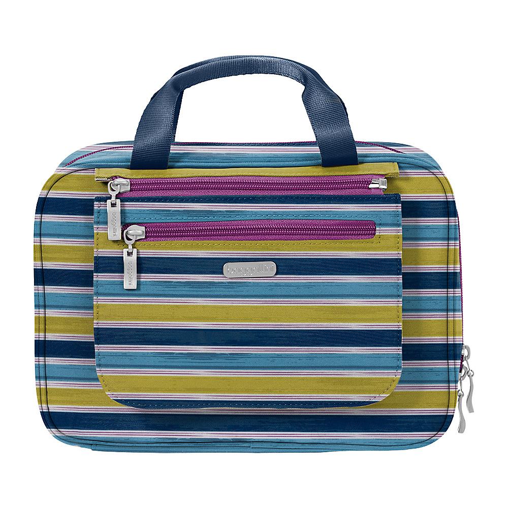 baggallini Deluxe Travel Cosmetic - Retired Colors Tropical Stripe Multi - baggallini Travel Health & Beauty - Travel Accessories, Travel Health & Beauty