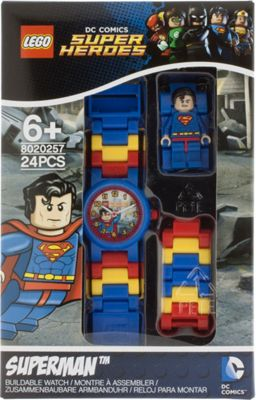LEGO Watches Superman Kids Minifigure Link Buildable Watch Blue - LEGO Watches Watches