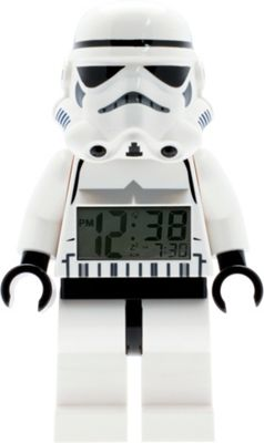 LEGO Watches Star Wars Stormtrooper Kids Minifigure Light Up Alarm Clock White - LEGO Watches Travel Electronics