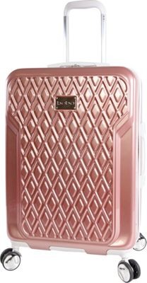 BEBE Stella 21 inch Hardside Spinner Carry-On Luggage Rose Gold - BEBE Hardside Carry-On