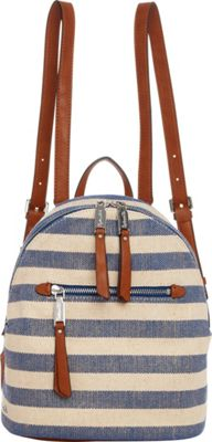 Splendid Park City Mini Backpack Metallic Stripe Blue - Splendid Designer Handbags